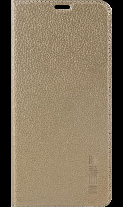 Чехол-книжка Inter-Step для Samsung Galaxy A6+, кожзам, золотистый