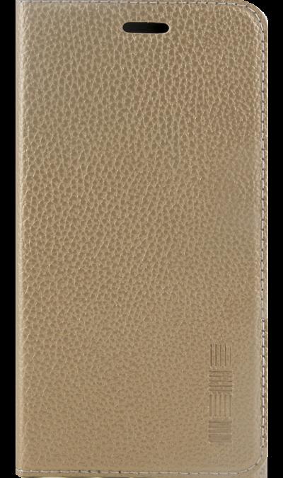 Чехол-книжка InterStep для Samsung Galaxy J2 (2018), кожзам, золотистый фото