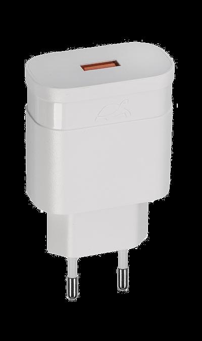 Зарядное устройство сетевое RIVACASE VA4110 18W QC3 (белое)