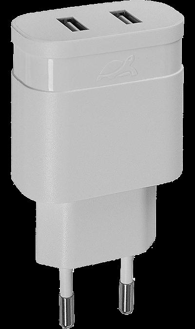 Зарядное устройство сетевое RIVACASE VA4123 3,4A/2USB (белое) Зарядное устройство сетевое RIVACASE VA4123 3,4A/2USB (белое)
