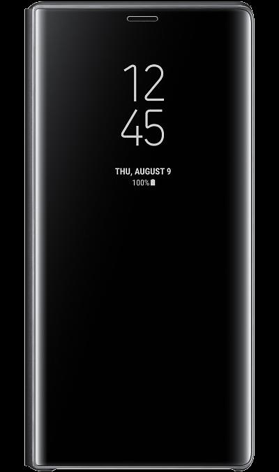 Чехол-книжка Samsung Clear View для Galaxy Note9, полиуретан, черный