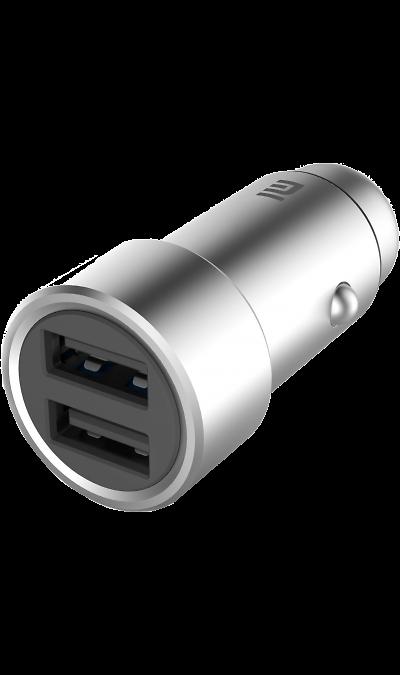 Зарядное устройство автомобильное Xiaomi USB 2,4A (серебристое)