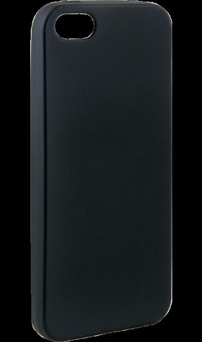 Чехол-крышка Gresso Silk для Apple iPhone 5/5s/SE, полиуретан, черный