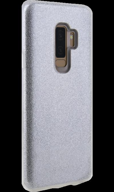 Чехол-крышка Miracase 8825 для Samsung Galaxy S9+, полиуретан, серебристый фото