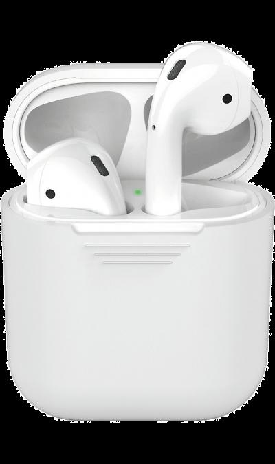 Чехол Deppa для футляра наушников Apple AirPods, силикон, прозрачный