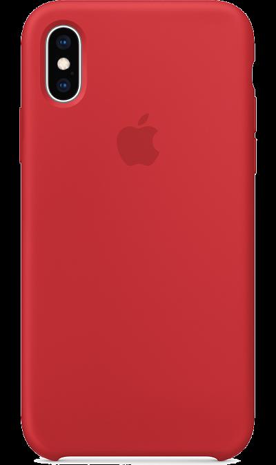 Чехол-крышка Apple MRWC2ZM/A для iPhone XS, силикон, красный фото