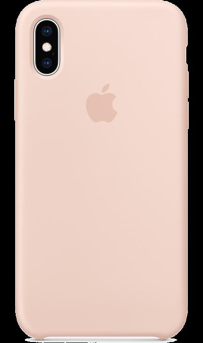 Чехол-крышка Apple MTF82ZM/A для iPhone XS, силикон, розовое золото фото