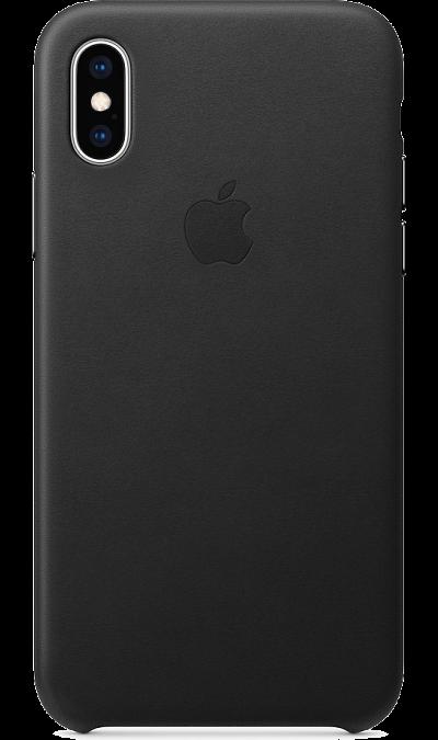 Чехол-крышка Apple MRWM2ZM/A для iPhone XS, кожа, черный фото