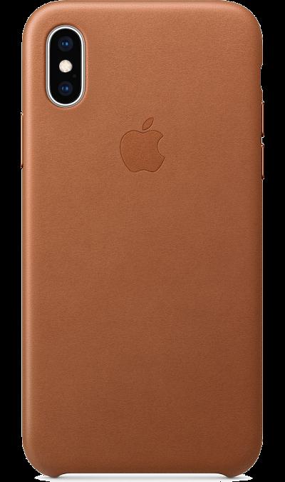 Чехол-крышка Apple MRWP2ZM/A для iPhone XS, кожа, коричневый фото