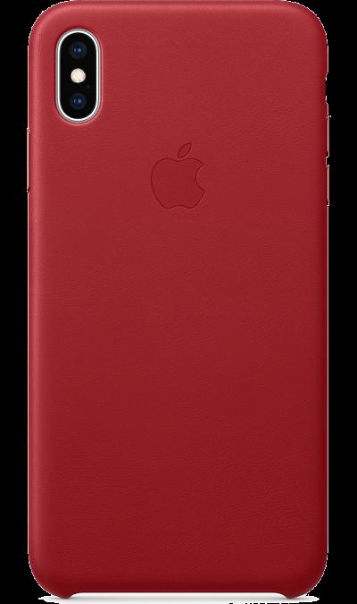 Чехол-крышка Apple MRWQ2ZM/A для iPhone XS Max, кожа, красный