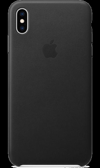 Чехол-крышка Apple MRWT2ZM/A для iPhone XS Max, кожа, черный фото