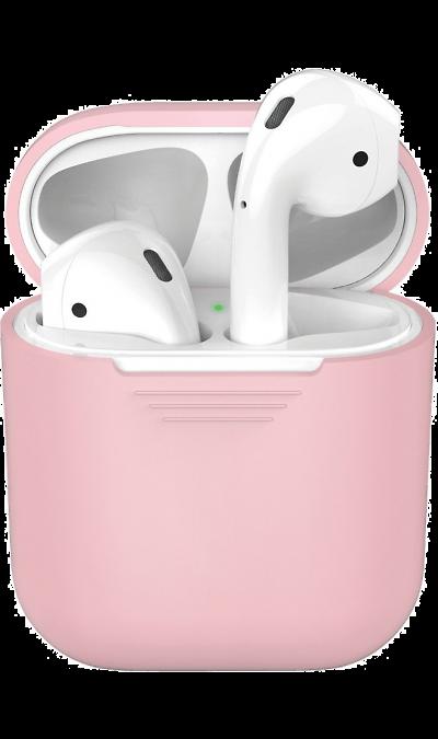 Чехол Deppa для футляра наушников Apple AirPods, силикон, розовый