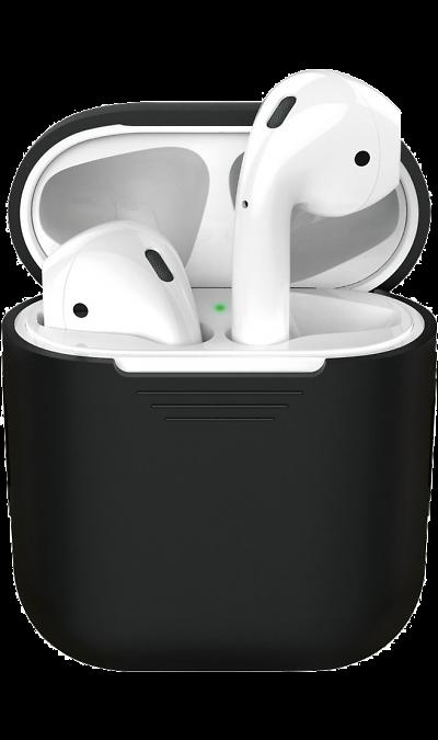 Чехол Deppa для футляра наушников Apple AirPods, силикон, черный