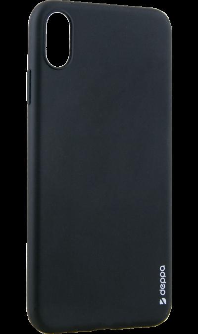 Чехол-крышка Deppa Gel Color Case для iPhone XS Max, полиуретан, черный фото