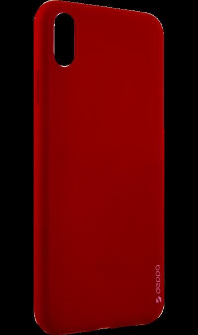Чехол-крышка Deppa Gel Color Case для iPhone XS Max, полиуретан, красный фото