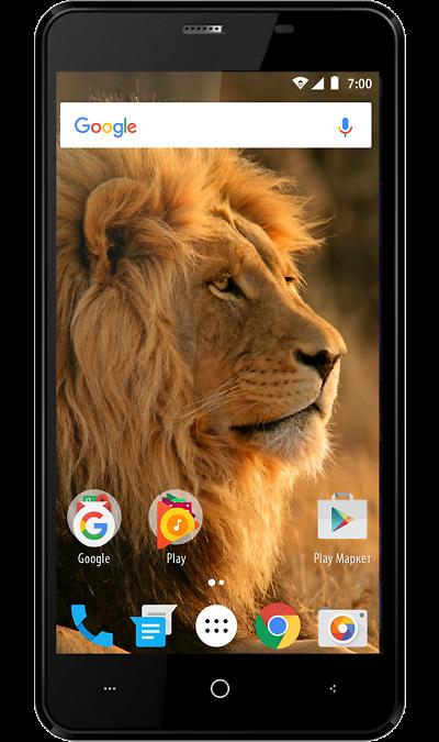 Смартфон VERTEX Impress Lion dual cam 3 Black (черный)