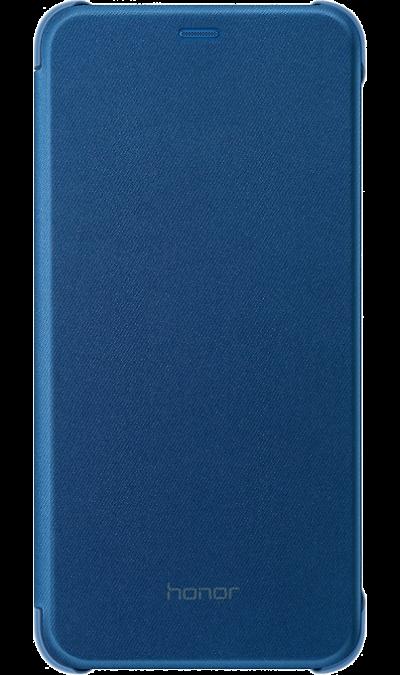 Чехол-книжка Honor для 9 Lite, полиуретан, cиний фото