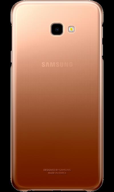 Чехол-крышка Samsung для Galaxy J4+ (2018), полиуретан, золотистый фото
