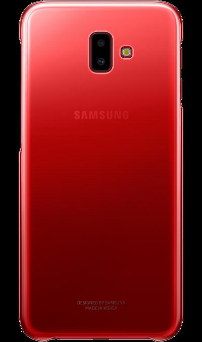 Чехол-крышка Samsung Gradation Cover для Galaxy J6+ (2018), полиуретан, красный фото