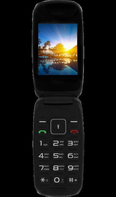 Телефон Fly Flip Black