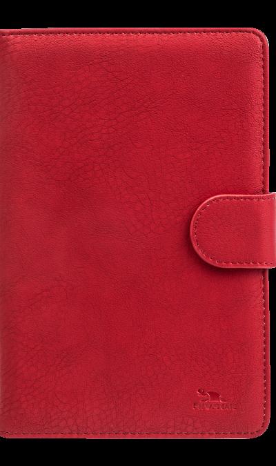 Чехол-книжка RIVACASE 3012 универсальный 7'', кожзам, красный