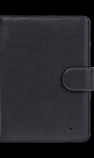 Чехол-книжка RIVACASE 3014 универсальный 8'', кожзам, черный