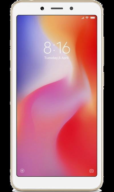 Смартфон Xiaomi Redmi 6A 2/16GB Gold (золотистый)