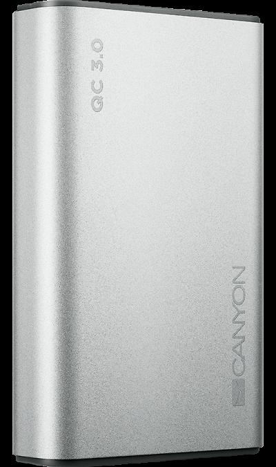 Аккумулятор Canyon BQC10S, Li-Pol, 10000 мАч, серебристый
