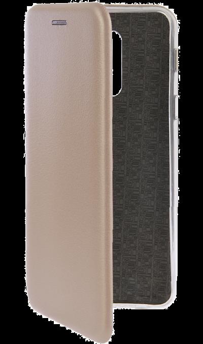 Чехол-книжка Deppa для Samsung Galaxy A6+, полиуретан, золотистый фото