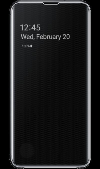 Чехол-книжка Samsung EF-ZG970CBEGRU Clear View для Galaxy S10e, поликарбонат, черный фото