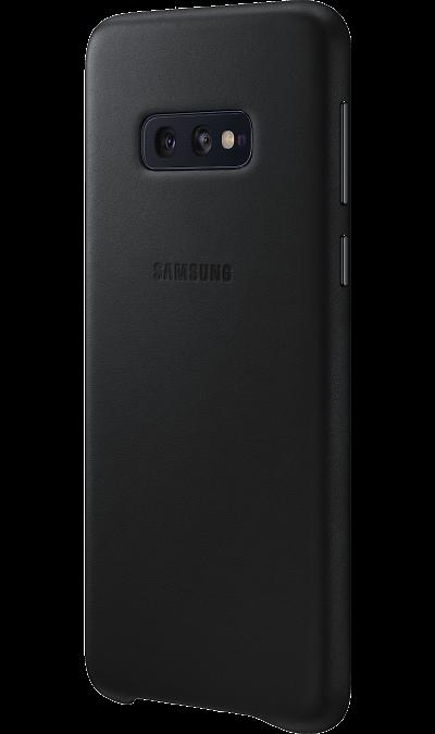 Чехол-крышка Samsung EF-VG970LBEGRU для Galaxy S10e, кожа, черный фото
