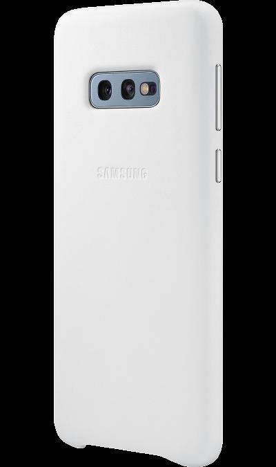 Чехол-крышка Samsung EF-VG970LWEGRU для Galaxy S10e, кожа, белый фото