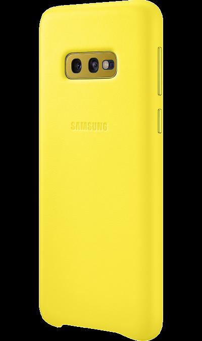 Чехол-крышка Samsung EF-VG970LYEGRU для Galaxy S10e, кожа, желтый фото