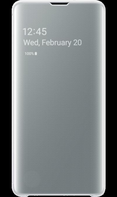 Чехол-книжка Samsung EF-ZG973CWEGRU Clear View для Galaxy S10, поликарбонат, белый фото