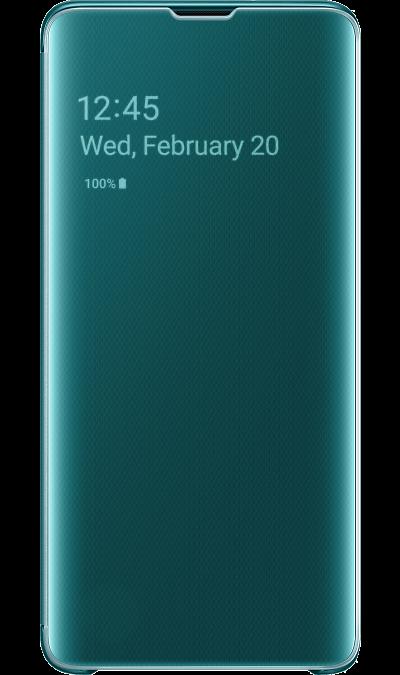 Чехол-книжка Samsung EF-ZG973CGEGRU Clear View для Galaxy S10, поликарбонат, зеленый фото