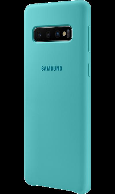 Чехол-крышка Samsung EF-PG973TGEGRU для Galaxy S10, силикон, зеленый фото