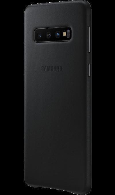 Чехол-крышка Samsung EF-VG973LBEGRU для Galaxy S10, кожа, черный фото