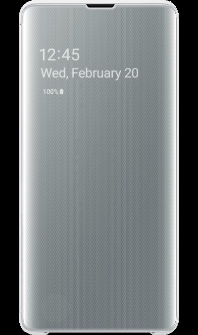 Чехол-книжка Samsung EF-ZG975CWEGRU Clear View для Galaxy S10+, поликарбонат, белый фото