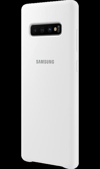 Чехол-крышка Samsung EF-PG975TWEGRU для Galaxy S10+, силикон, белый фото