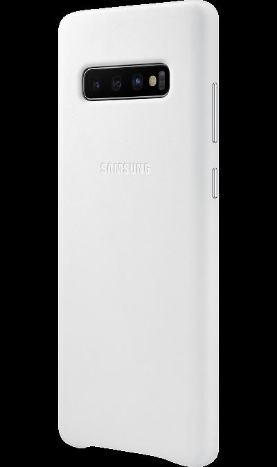 Чехол-крышка Samsung EF-VG975LWEGRU для Galaxy S10+, кожа, белый