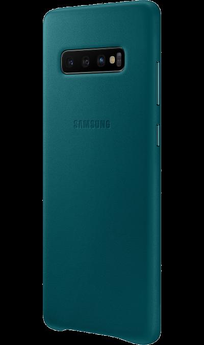 Чехол-крышка Samsung EF-VG975LWEGRU для Galaxy S10+, кожа, зеленый фото