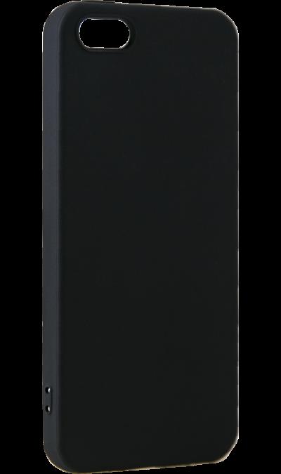 Чехол-крышка LuxCase Rubber для Apple iPhone 5/5s, полиуретан, черный