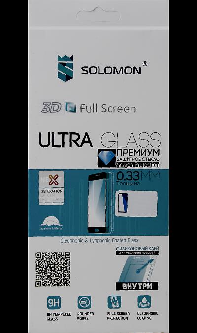 Защитное стекло Solomon Full Glue для Honor 10 3D (черная рамка)