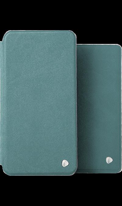 Чехол-книжка + обложка на паспорт FashionTouch для Samsung Galaxy J4, полиуретан, бирюзовый фото