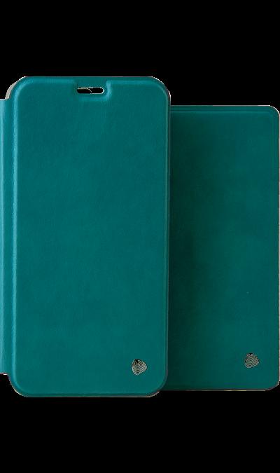 Чехол-книжка + обложка на паспорт FashionTouch для Honor 7A, полиуретан, бирюзовый фото