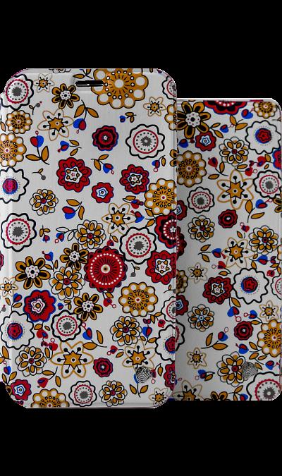 Чехол-книжка + обложка на паспорт FashionTouch для Honor 7A, полиуретан, цветы