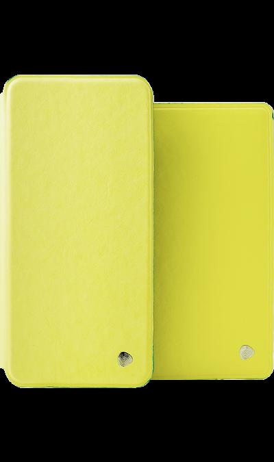 Чехол-книжка + обложка на паспорт FashionTouch для Honor 7C/7A Pro, полиуретан, желтый фото