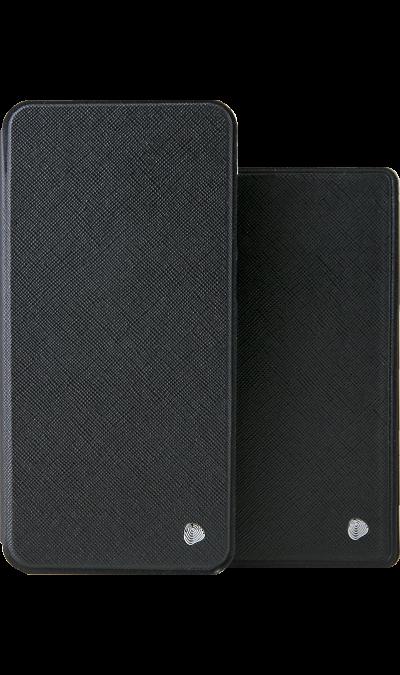 Чехол-книжка + обложка на паспорт FashionTouch для Honor 8C, полиуретан, черный фото