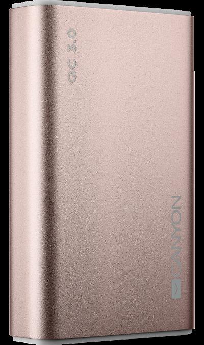 Аккумулятор Canyon BQC10RG, Li-Ion, 10000 мАч, розовый
