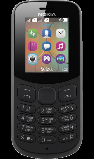 Телефон Nokia 130 Dual sim Black (Чёрный)